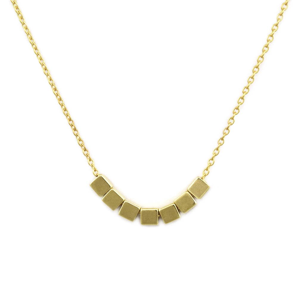 Gold Neo Geo Necklace