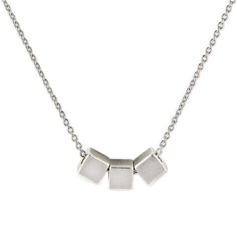Silver Triple Cube Necklace