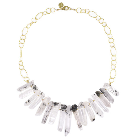 Tourmalated Quartz Necklace