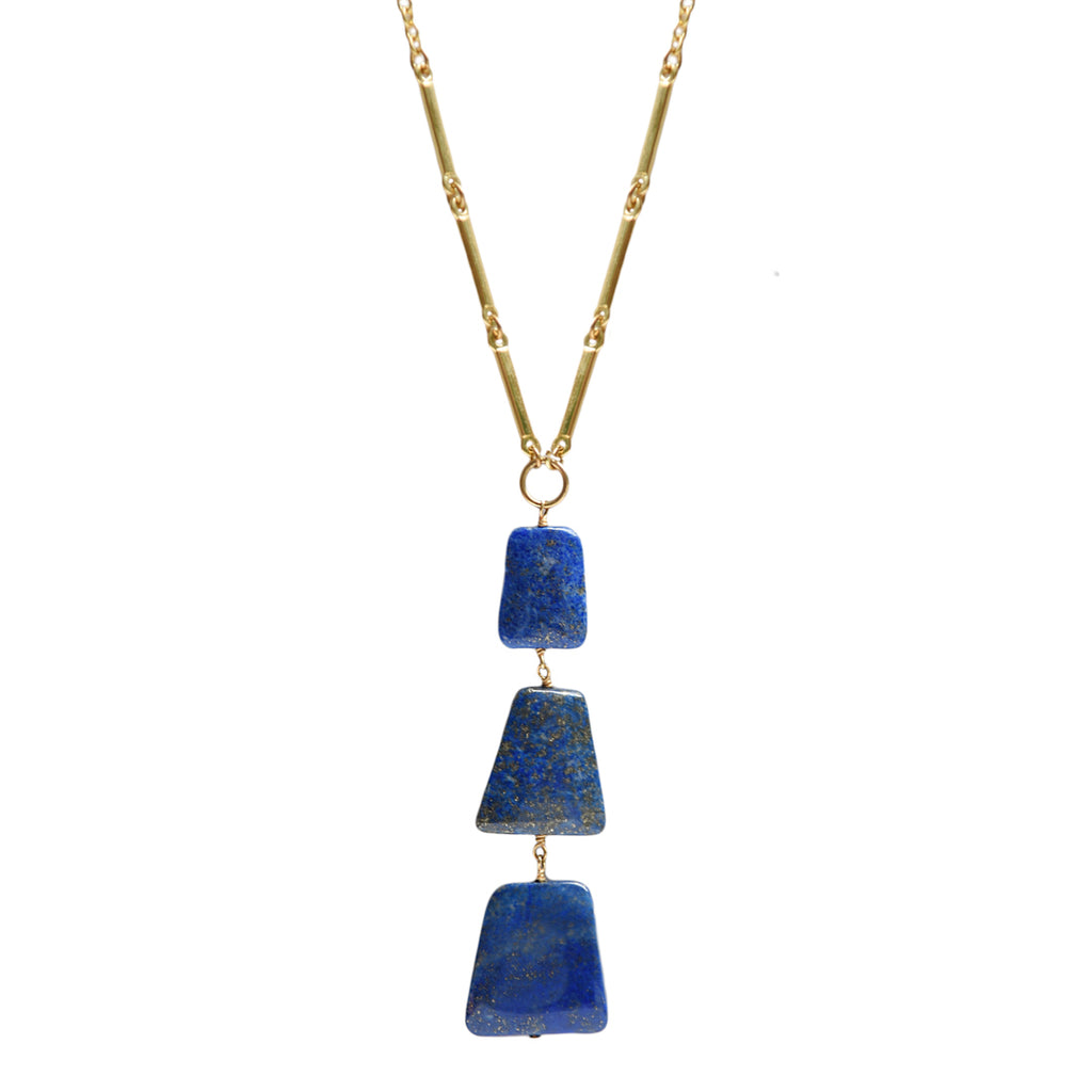 Lapis Stacked Pendant