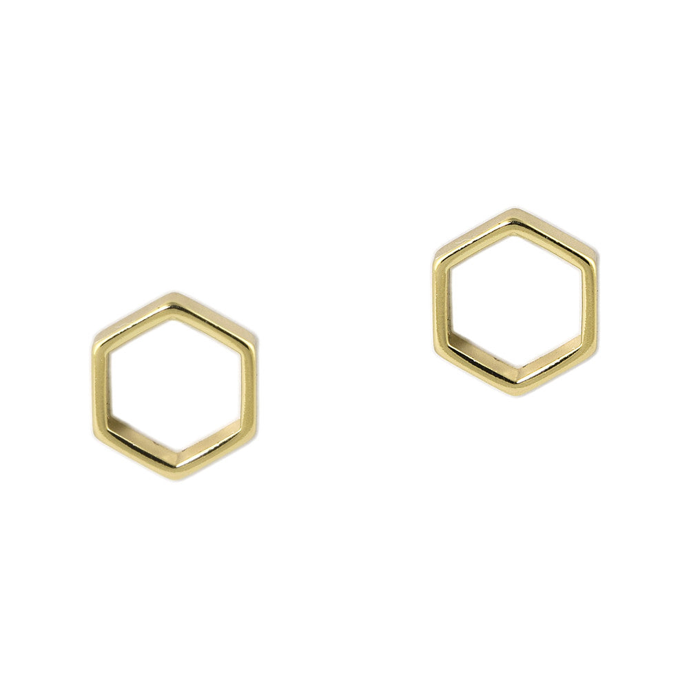 Beeline Hexagon Studs