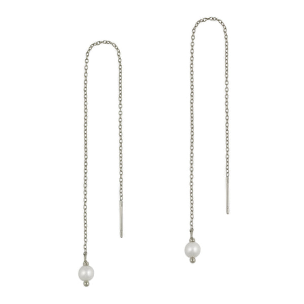 Baby Pearl Threader Earrings