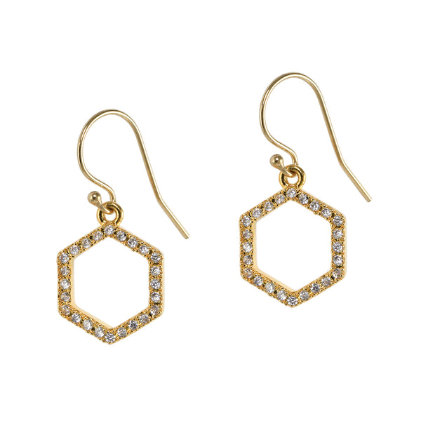 Hexagon Twinkle Earrings