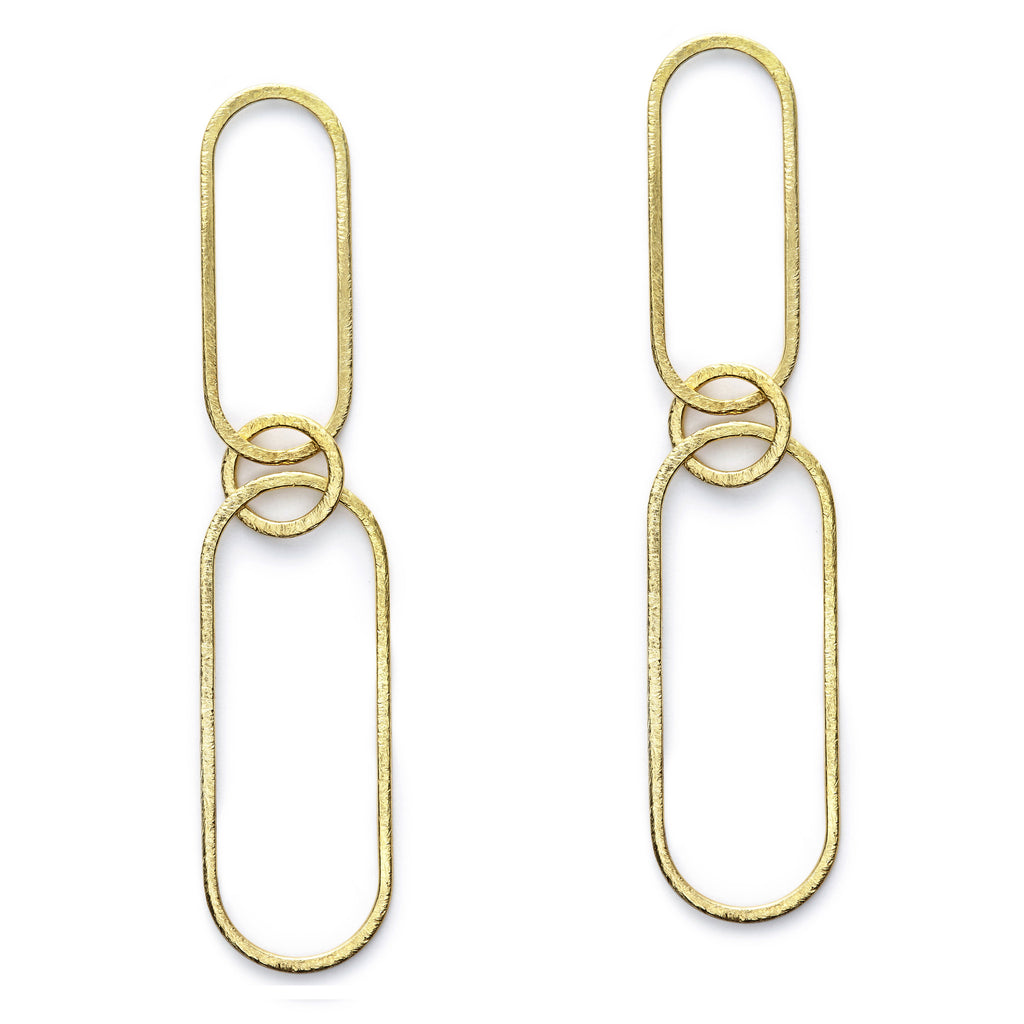 Gold Paper Clip Earrings