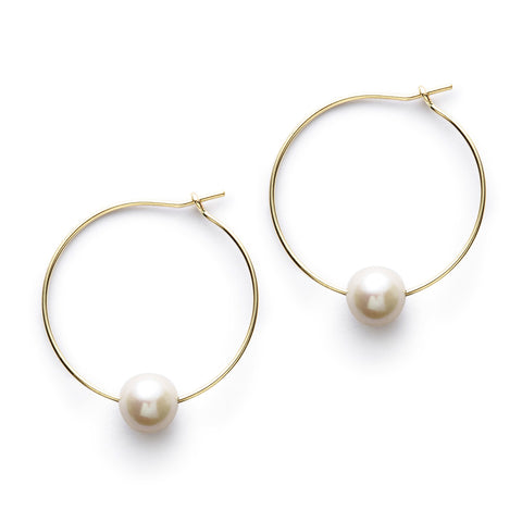 Perfect Pearl Hoops