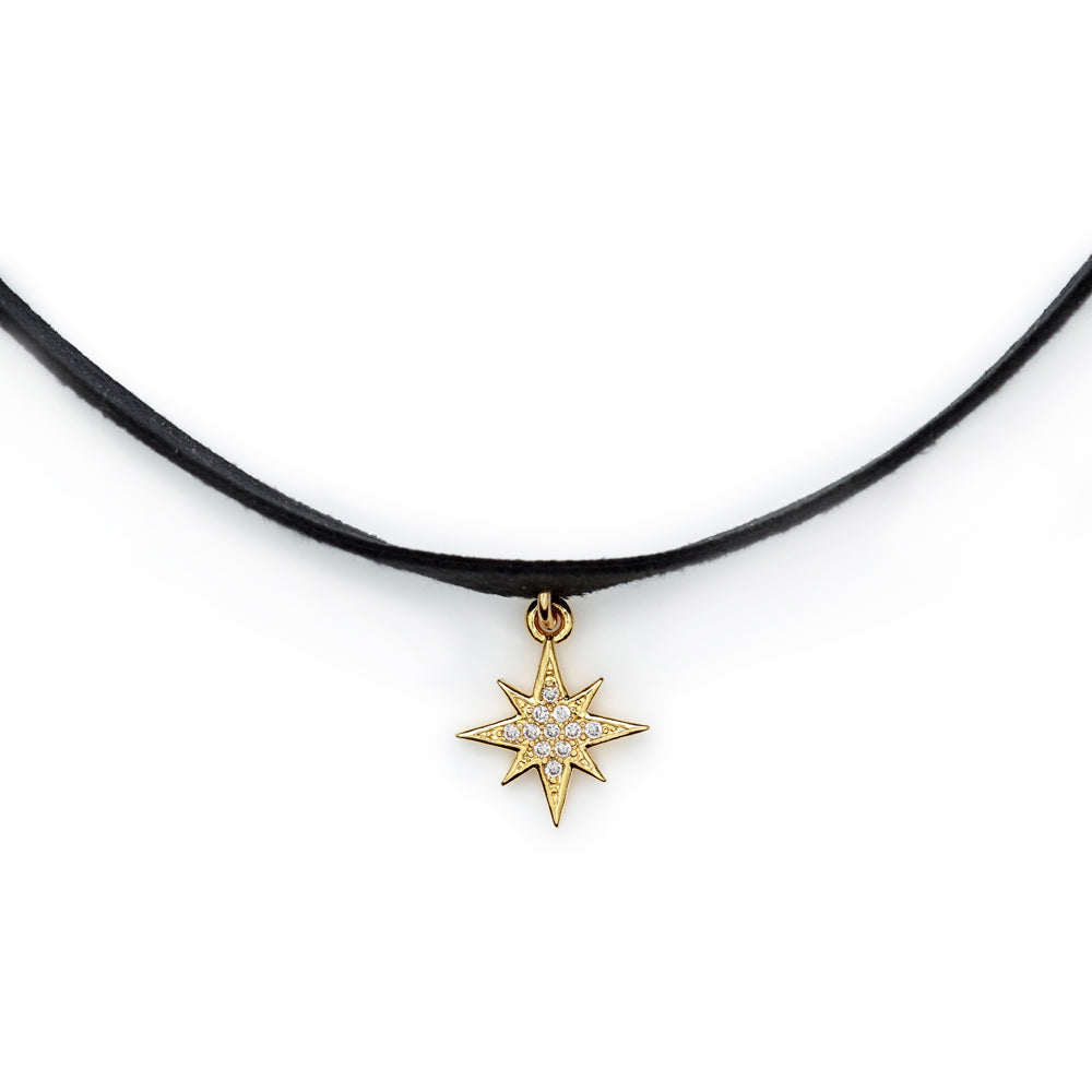 goldclear necklace forever pendant gold north in metallic product normal jewelry lucky lyst star