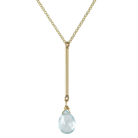 Blue Topaz Bar Necklace