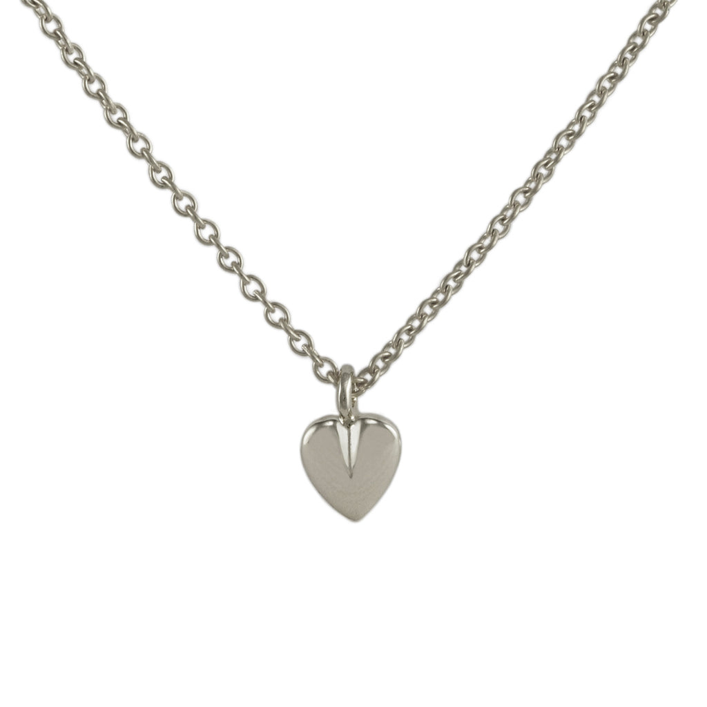 Silver Cleft Heart Pendant