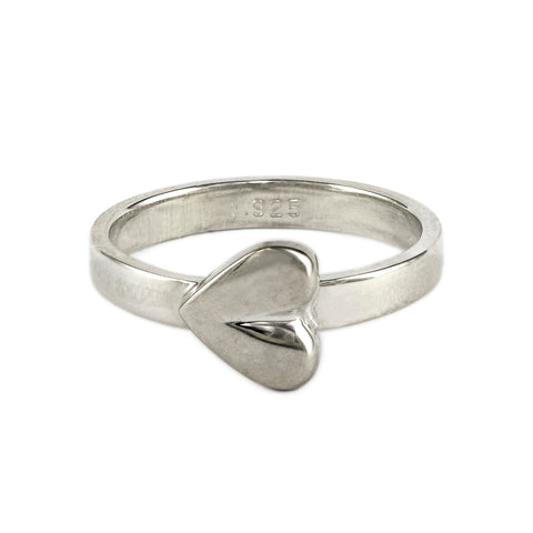 Silver Resting Heart Ring