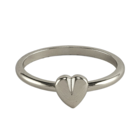 Silver Cleft Heart Ring
