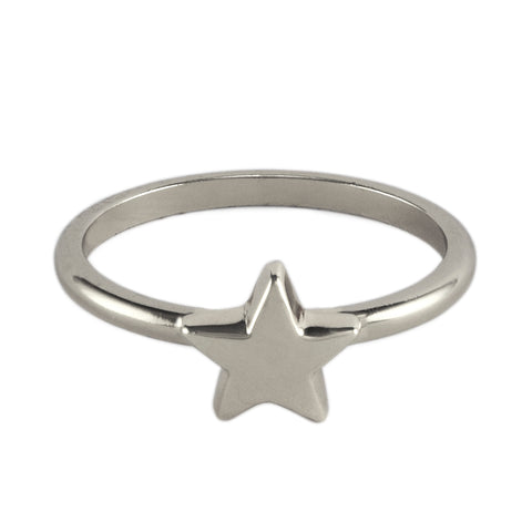 Silver Bright Star Ring