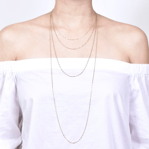 Mini Cube Chain Necklace