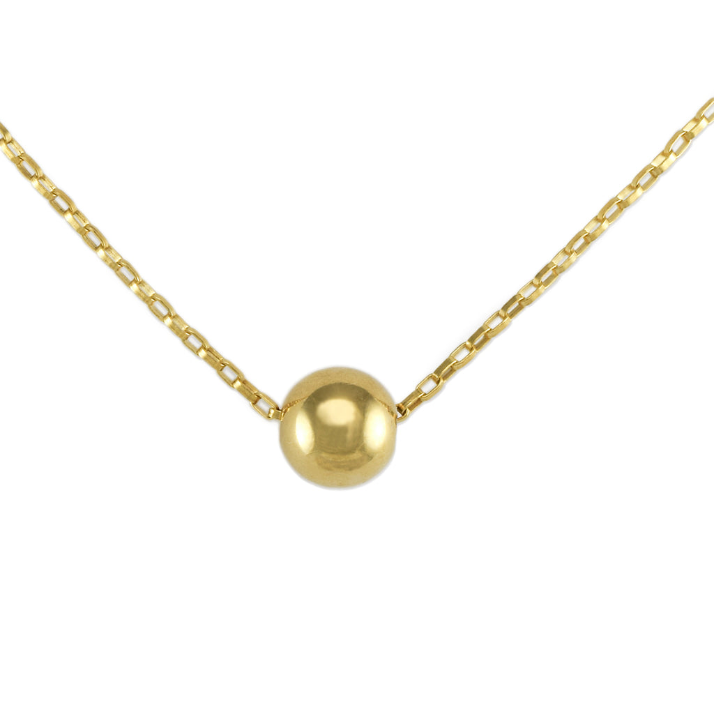 Mini Golden Orb Necklace