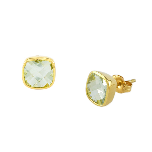 Green Amethyst Influence Studs