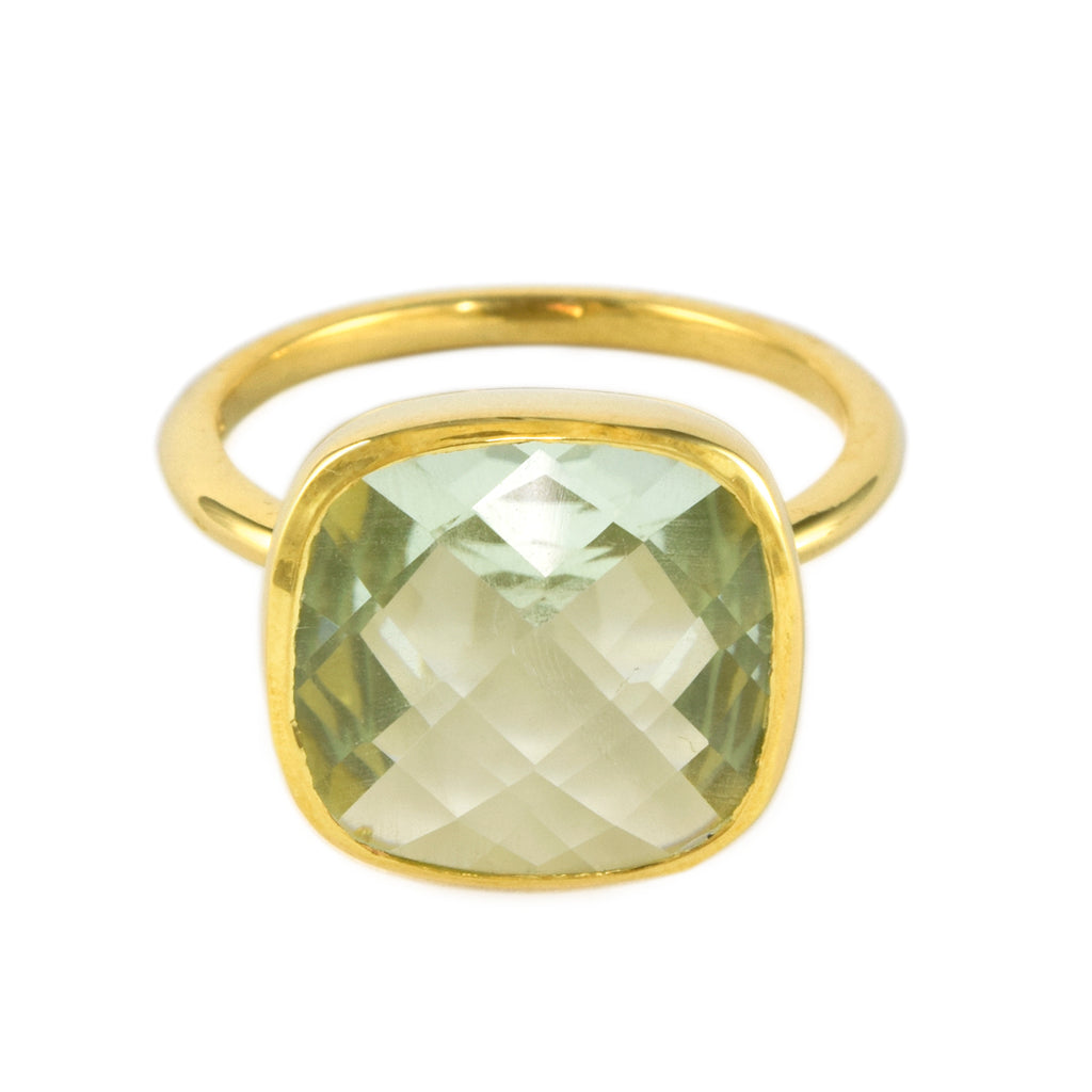 Green Amethyst Influence Ring