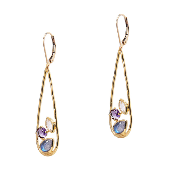 Gold Jewel Garden Earrings