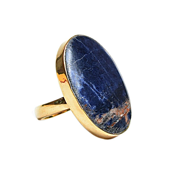 Pietersite Oval Cabochon Ring