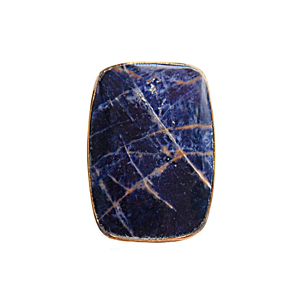 Pietersite Cushion Rectangle Cabochon Ring