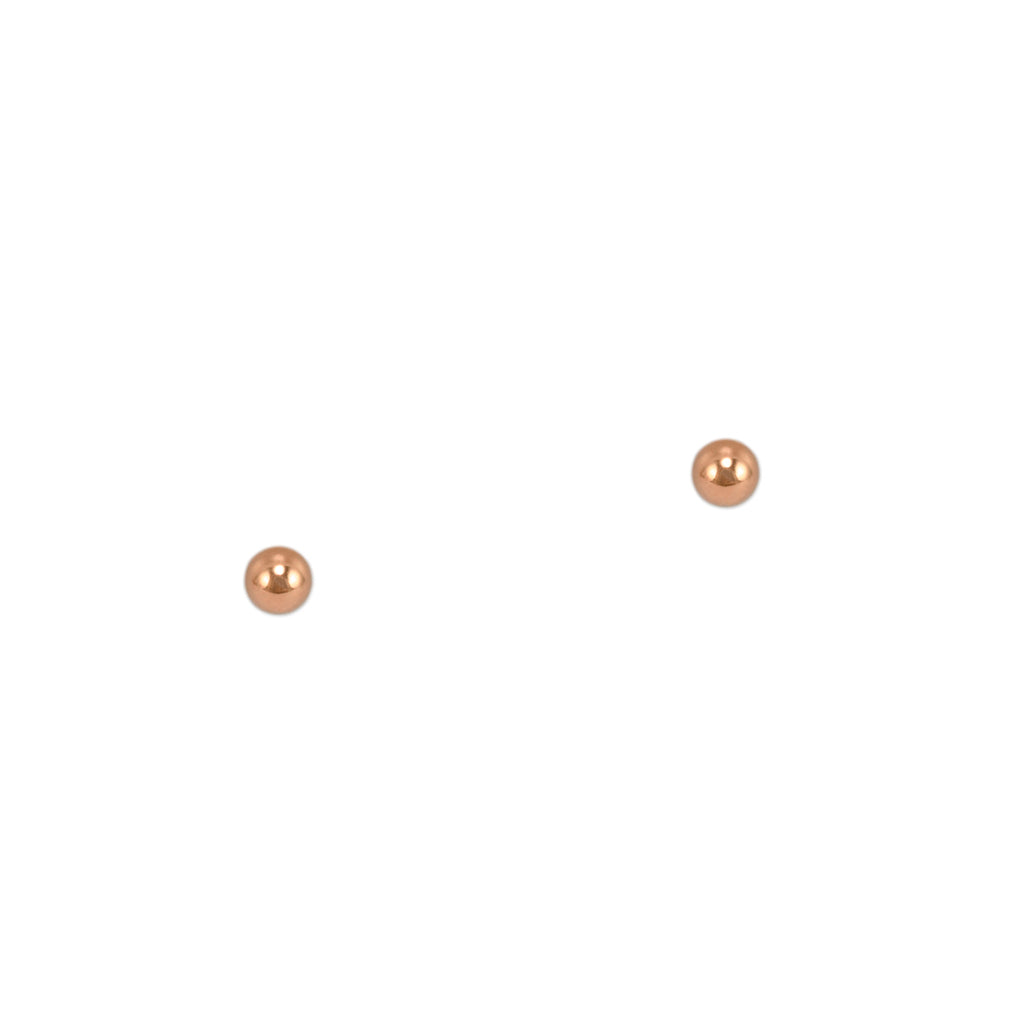Rose Gold Micro Ball Studs