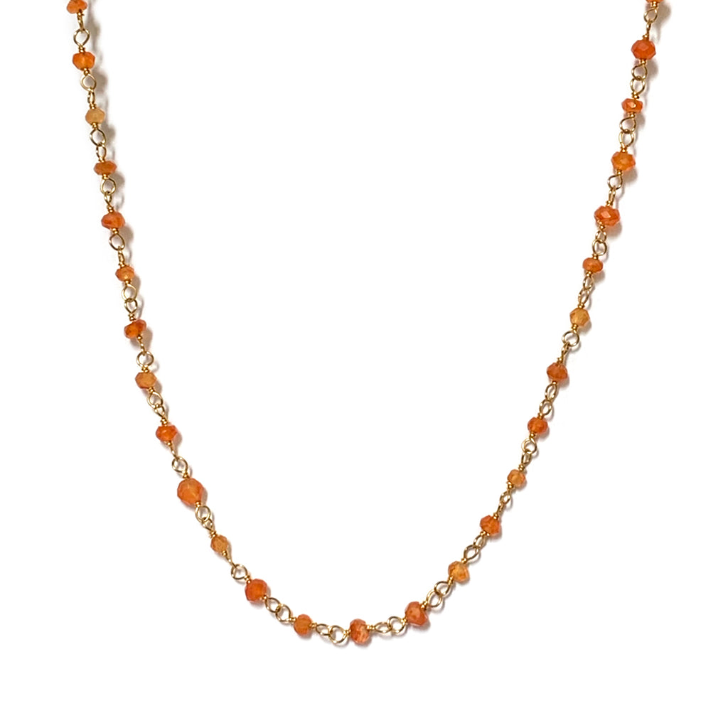 Carnelian Rosary Chain Necklace