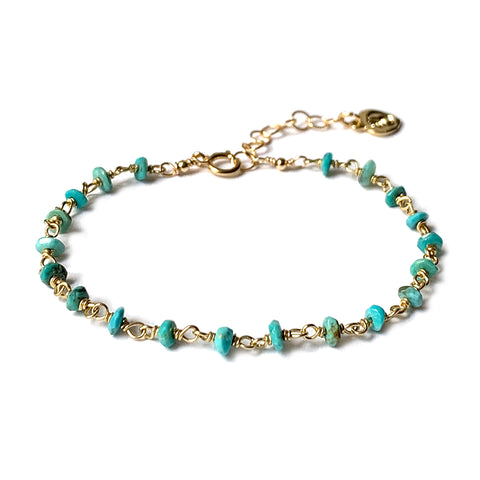 Turquoise Rosary Chain Bracelet