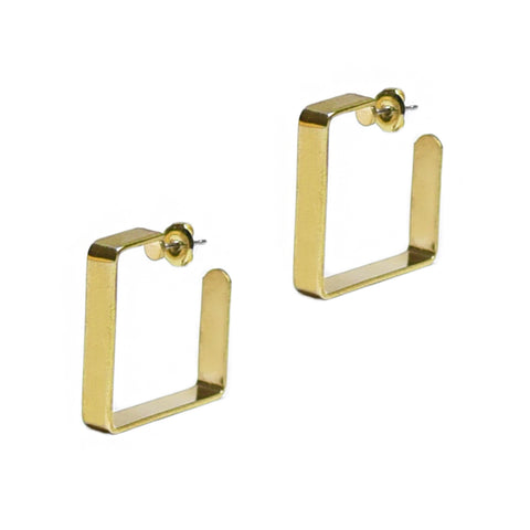 Large Golden Square Hoops