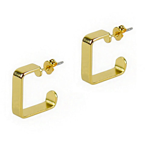 Small Golden Square Hoops