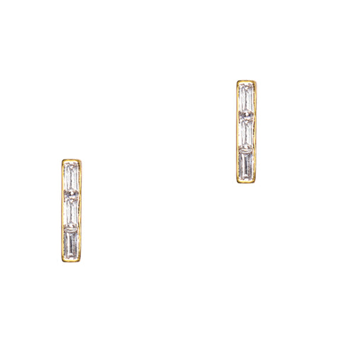 Baguette Bar Earrings
