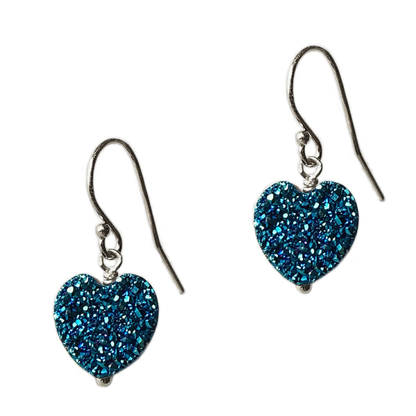 All My Heart Teal Earrings