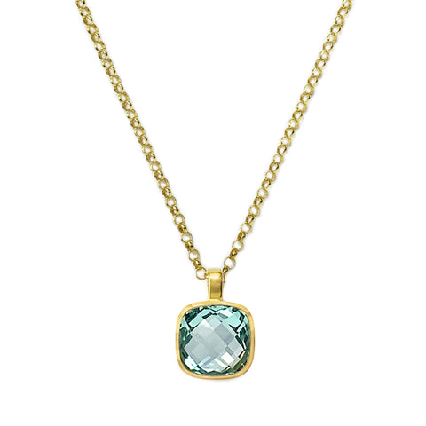 Blue Topaz Influence Pendant