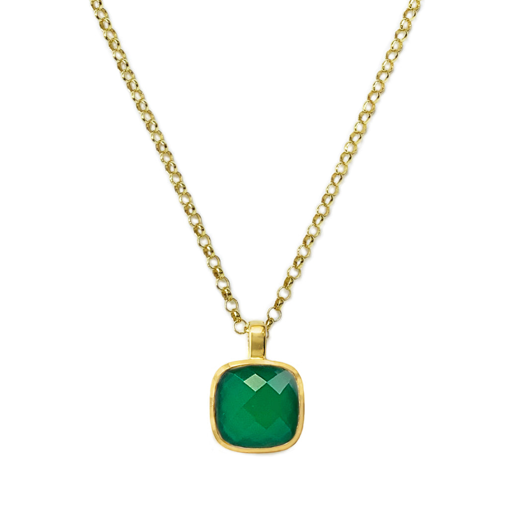 Emerald Agate Influence Pendant