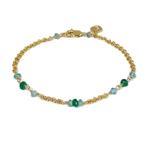 Watercolor Gemstone Bracelet