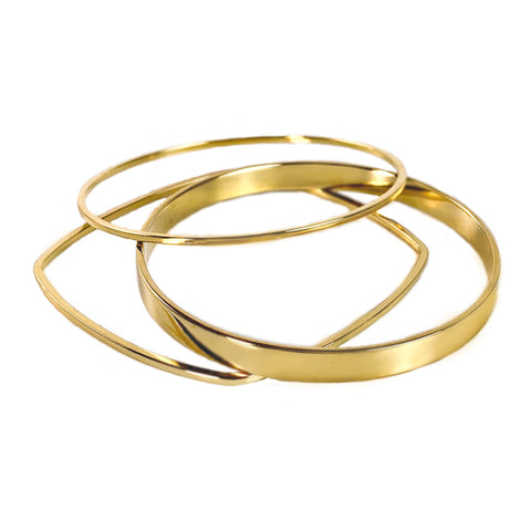 Set of 3 Geometric Bangles