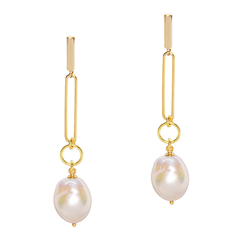 Going Baroque Pearl Earrings