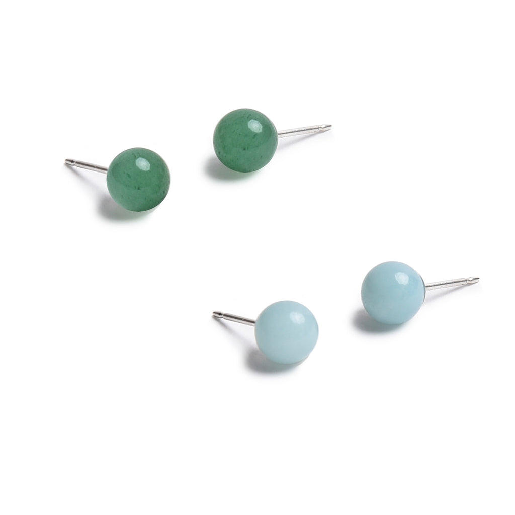 Green Aventurine-Amazonite Gem Ball Set