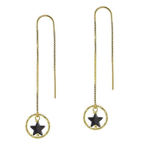 Gold Shooting Star Earrings