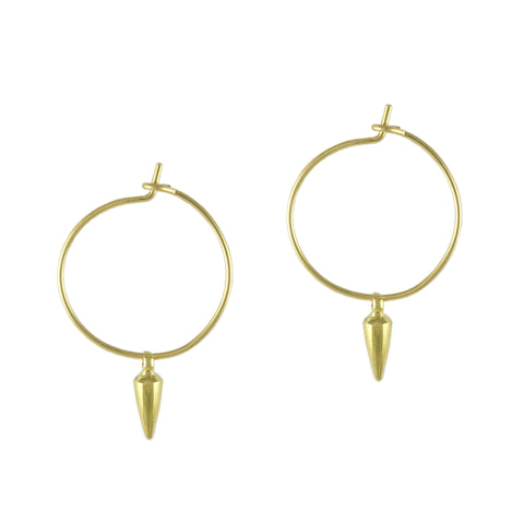 Gold Spike Hoops