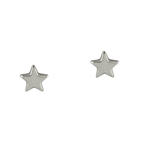 Silver Bright Star Studs