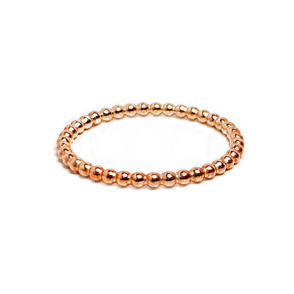 Rose Gold Bead Ring