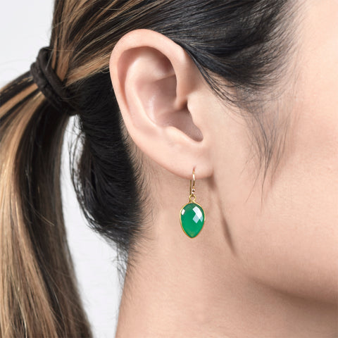 Emerald Agate Aislin Earrings