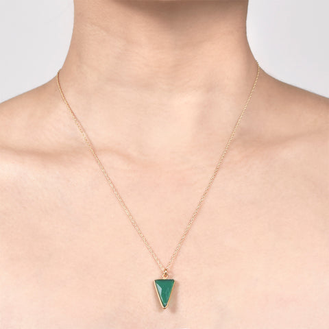 Emerald Agate Arrow Pendant