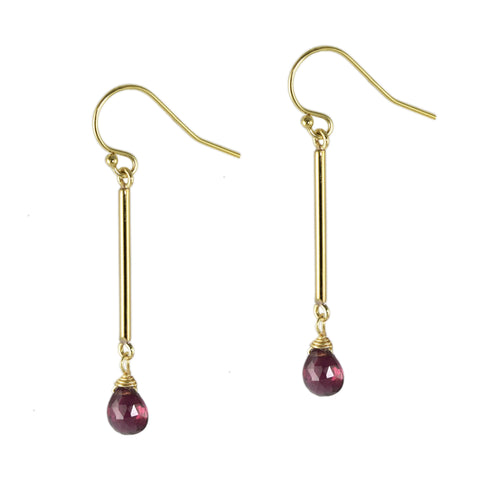 Garnet Pendulum Earrings