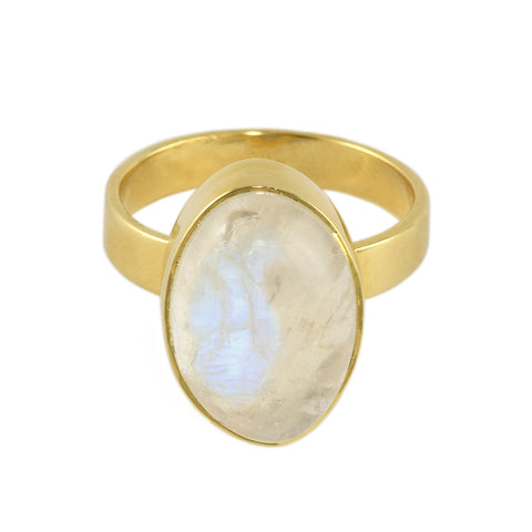 Moonstone Cabochon Ring
