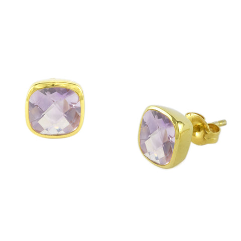 Pink Amethyst Influence Studs