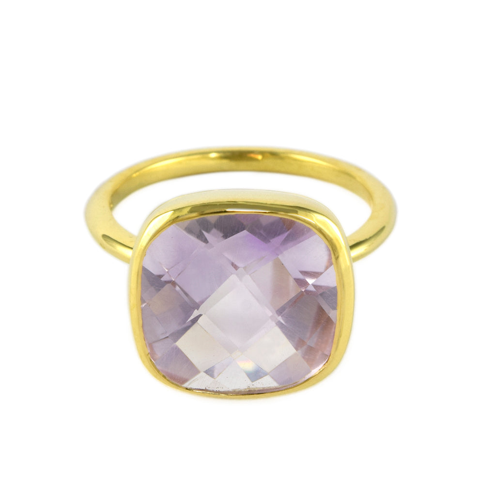 Pink Amethyst Influence Ring
