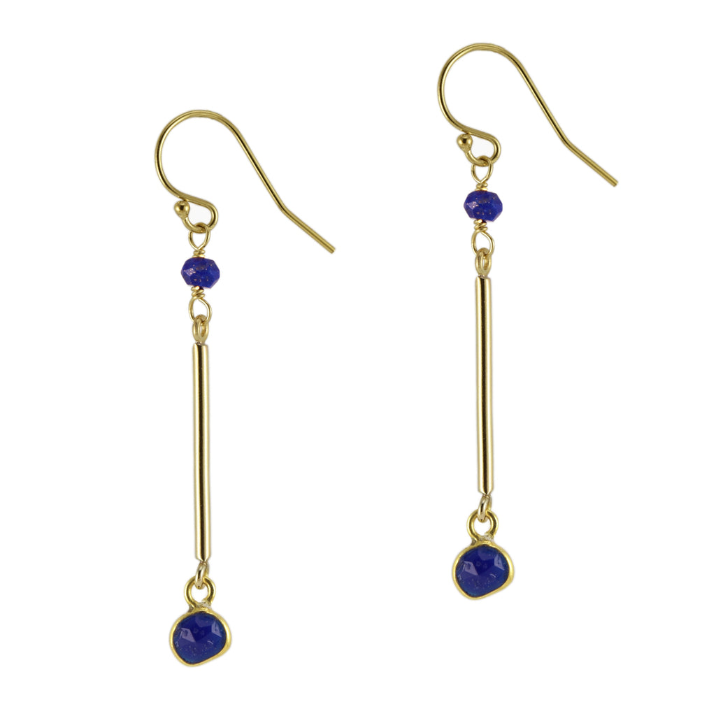 Lapis Swing Earrings