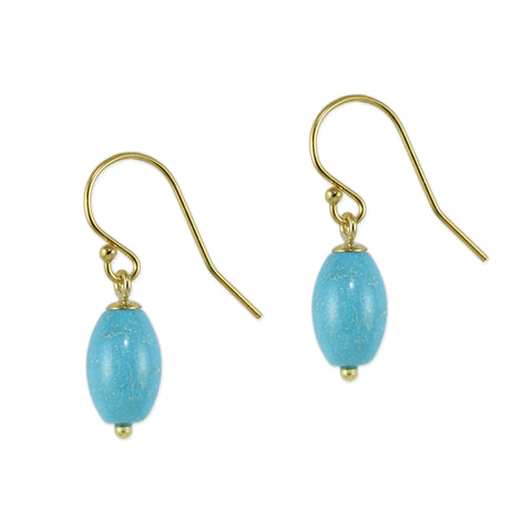Turquoise Egg Earrings