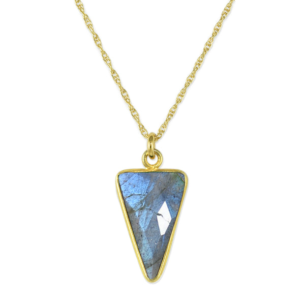 Labradorite Arrow Pendant