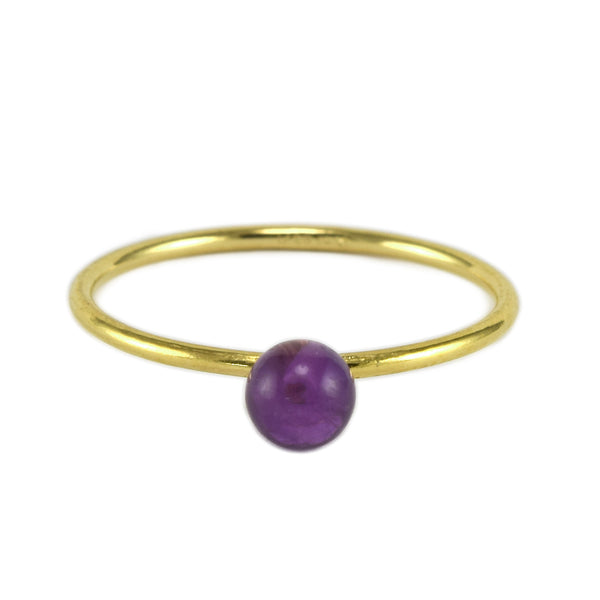 Amethyst BB Ring