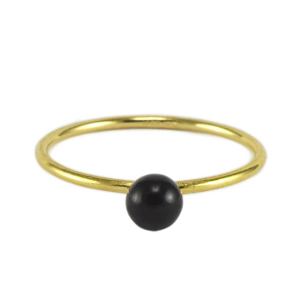 Black Onyx BB Ring